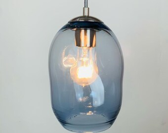 Sale IN STOCK 1/2 OFF | Ready to Ship |  Steel Blue Lighting | Pendant Kitchen Island Lights