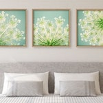 Bedroom Wall Decor, Above Bed Wall Art, Floral Wall Art Set of 3, Bedroom Decor, Flower Photography Prints for Framing, Floral Art Print Set