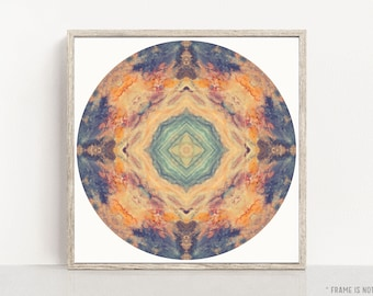 Mandala Wall Art, Large Art, Abstract Print, Meditation Artwork, Peaceful Art, Photography Print, Wall Art Print, Mandala No. 1150