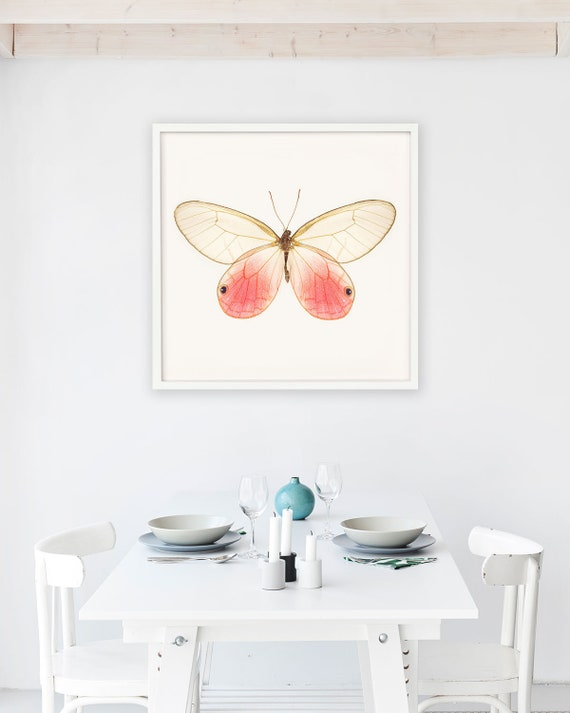 Pink Butterfly Art Girls Room Decor Extra Large Wall Art | Etsy