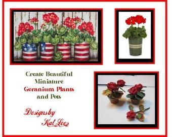 Creating Beautiful Miniature Geraniums Plants and Pots