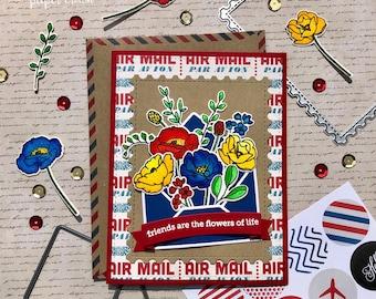 Airmail Friendship Card