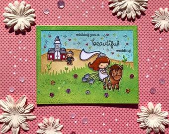 Runaway Bride Congratulations Card
