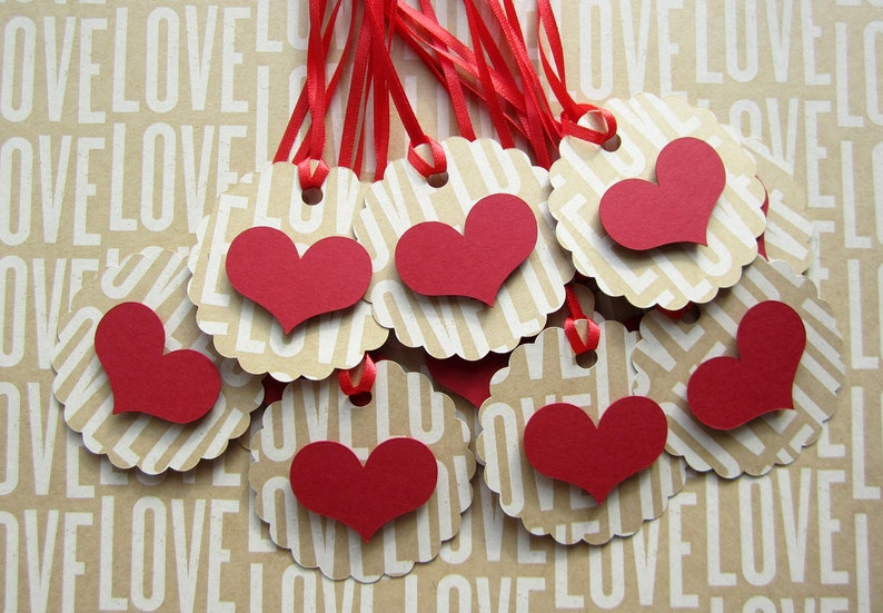 Scalloped Heart Tags image 0