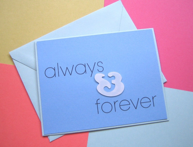 Modern Love Note  always and forever image 0