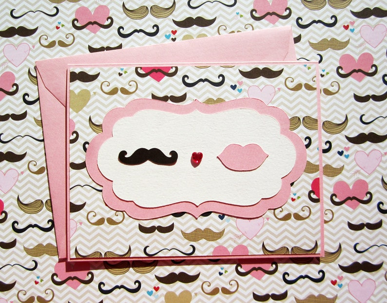 Moustache Love  Pink Version image 0