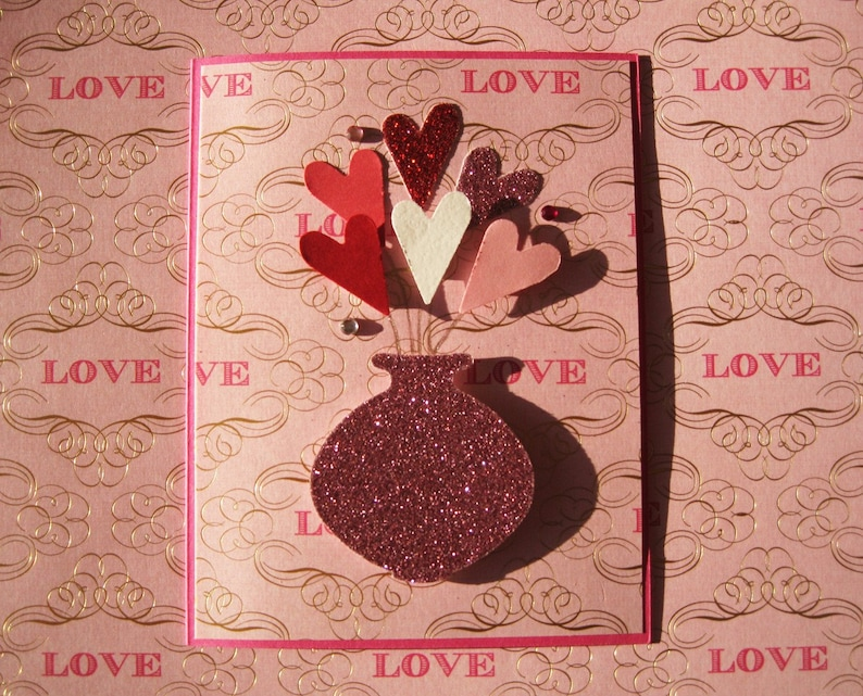 Pink Heart Flowers image 0
