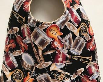 Baby Bib:   Orchestra / Band Instruments Baby Bib Music Bib Drums, Guitars, and More