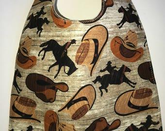 Toddler Bib:  Western Cowboys, Cowboy Hats, and Horses