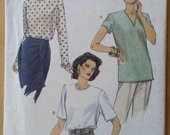 Vogue Vintage uncut pattern  8572 Very Easy Very Vogue Blouse size 20-22-24 1993