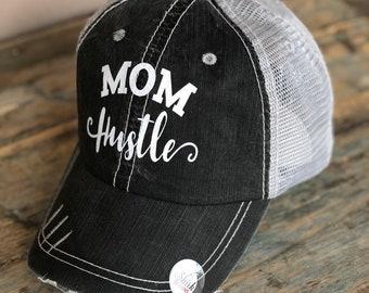 aa141728a115e Mom Hustle ADULT OR TEEN Girls Trucker Hat Baseball Cap Snap Back