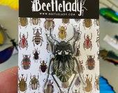 Darkling Beetle (Gyriosomus parvus) Acrylic Pin