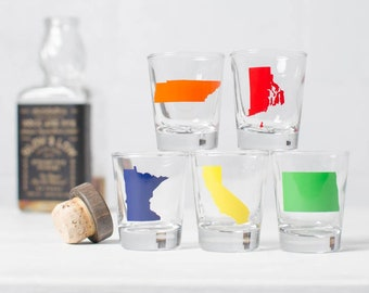 State Silhouette Shot Glasses, Set of 2, Limited quanities