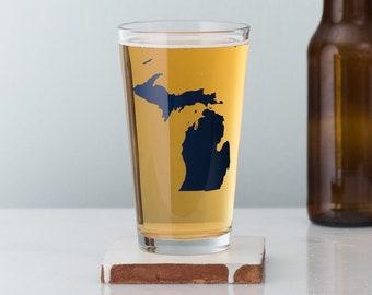 Michigan Pint Glass- SET of 2