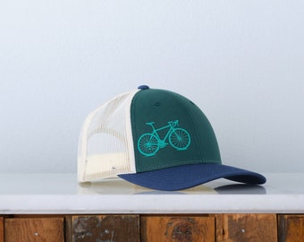 Road Bicycle Low Profile Trucker Hat - Chill Tri-color