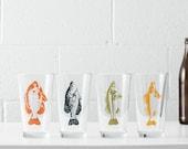 Gone Fishin' Pint Glassware- SET of 2