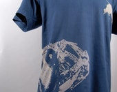 sea creatures, mens tshirt, hand dyed