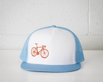 Vital Bicycle - trucker cap, Rust on Lt. Blue