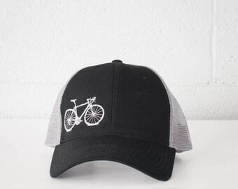 VITAL BICYCLE Mesh Back Cap Low Profile Black and Gray