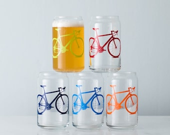 Bicycle Can Glasses- SET of 2
