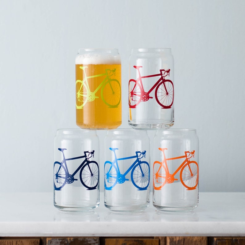 Bicycle Can Glasses SET of 2 image 0