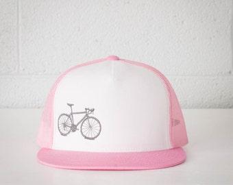 Vital Bicycle - trucker cap, Light Grey on Pink