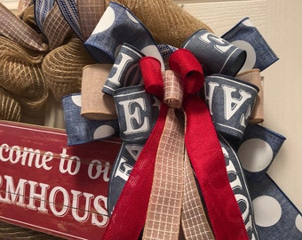 Farmhouse Wreath, Farmhouse Decor, Welcome to Our Farmhouse