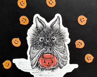 3 inch vinyl sticker Chester's first Halloween