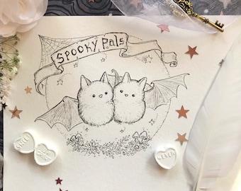 Spooky Pals 5x7 print