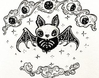 Bat to the Bone 5x5 print