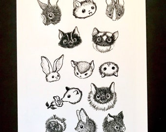 Print of  Fuzzy Faces