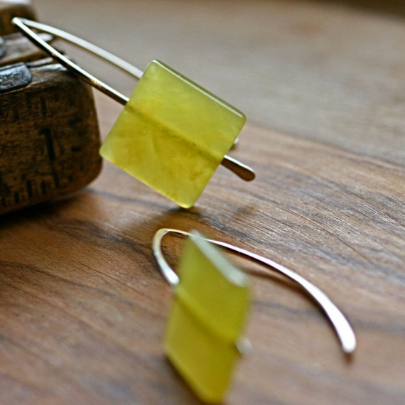 Citron Earrings. Choose your finish.