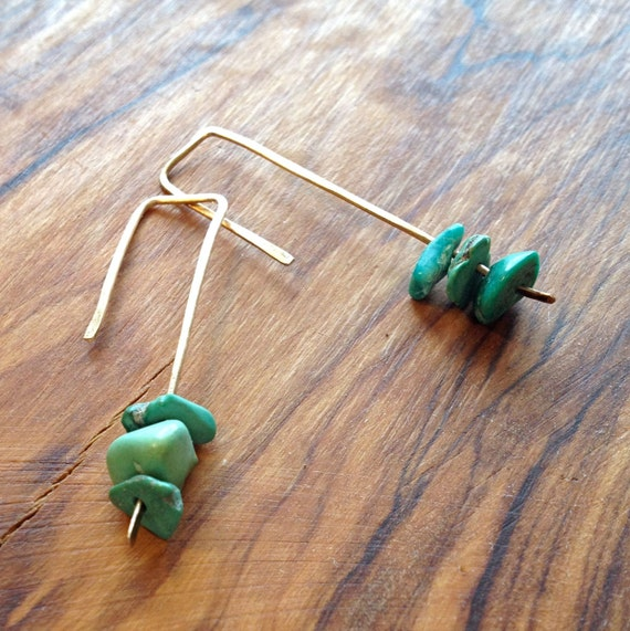 Cairn Earrings. Choose your finish.