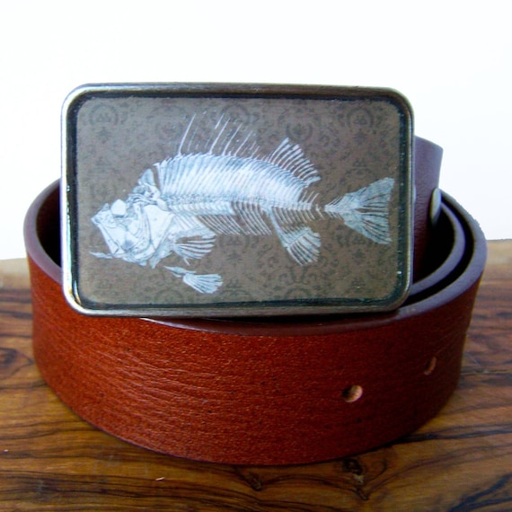 Skeleton Fish Buckle.