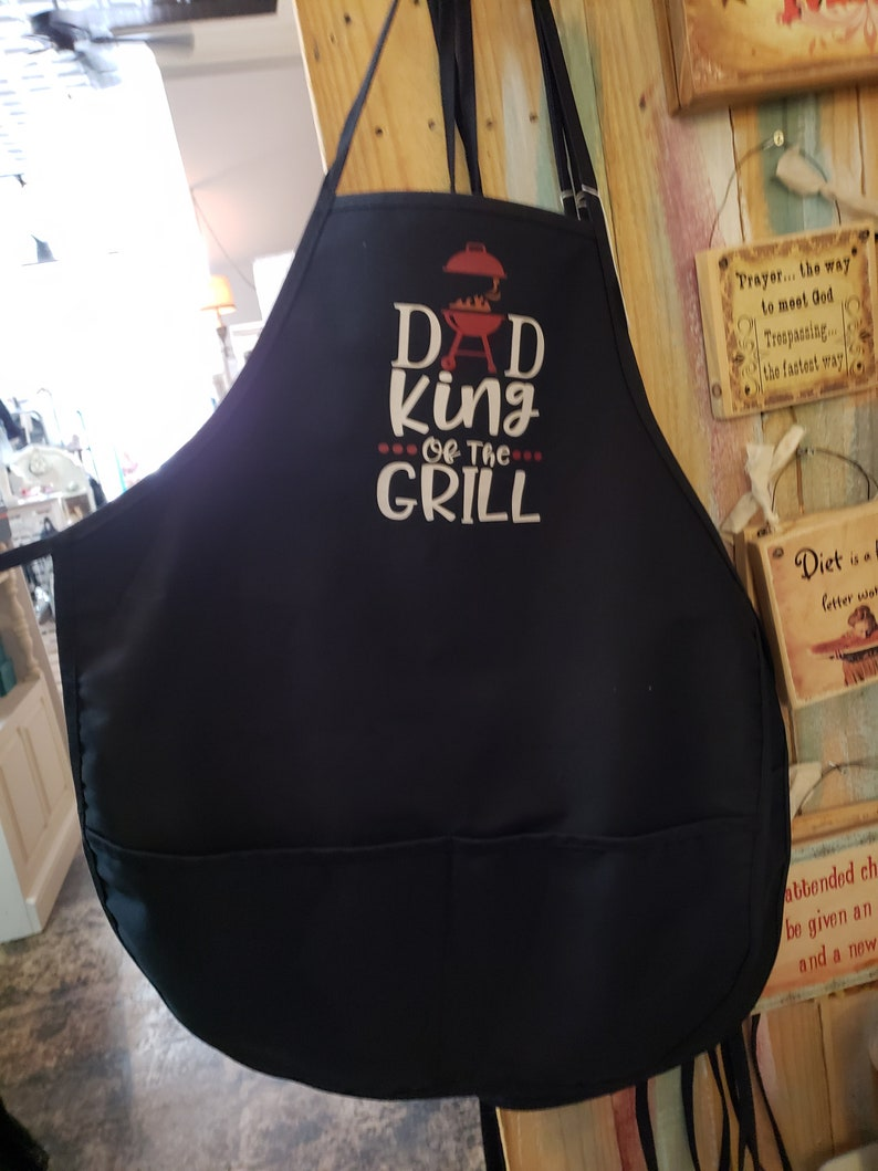King of the grill apron Dad
