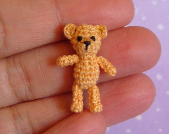 PDF PATTERN - Crochet Miniature Orsino Bear - Amigurumi Tutorial