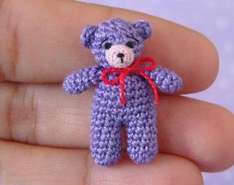 Miniature Matchbox Bear -  Micro AMIGURUMI Crochet PATTERN