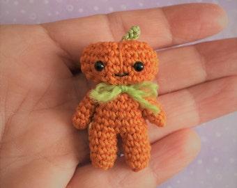 Miniature Pumpkin Man -  AMIGURUMI Crochet PATTERN