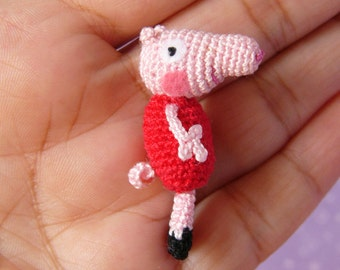 Miniature Peppa Pig -  AMIGURUMI Crochet PATTERN