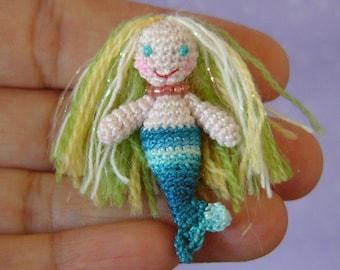 Miniature Mermaid - AMIGURUMI Crochet PATTERN