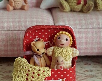 A Polka Dots Suitcase full of Toys