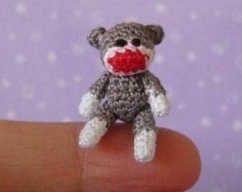 Miniature Articulated Sockmonkey - AMIGURUMI Crochet PATTERN