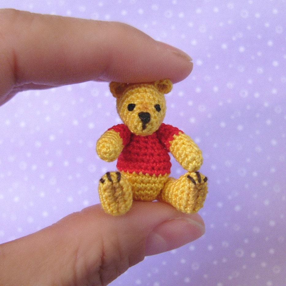 Miniature,Pooh,Bear,-,Amigurumi,Crochet,PDF,Pattern,Pooh_Bear,crochet_bear,crochet_pooh_bear,mariella_vitale,muffa_miniatures,PDF_Pattern,Crochet_Tutorial,crochet_pattern,miniature_amigurumi,miniature_crochet,amigurumi,micro_crochet