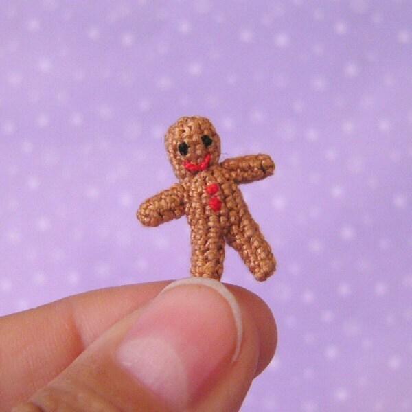 PDF,PATTERN,-,Crochet,Micro,Miniature,Gingerbread,Man,Amigurumi,Tutorial,Supplies,Christmas_gift,Gingerbread_man,miniature,tutorial,amigurumi,crochet,stocking_filler,Christmas,DIY,Pattern,Micro_Crochet
