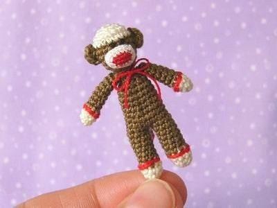 PDF,PATTERN,-,Crochet,Miniature,SockMonkey,Amigurumi,Tutorial,Supplies,party_favour,crochet_sockmonkey,crochet_pattern_,miniature,sock_monkey,sockmonkey,amigurumi,Pattern,DIY,micro_crochet,PDF Pattern,Crochet Pattern,Crochet Tutorial,DIY Tutorial