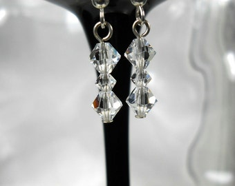 Crystal Clear Drop Earrings-Prom-Bridal-Gift