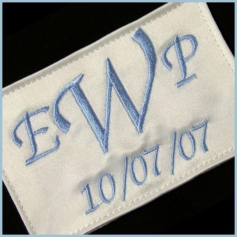 Custom Wedding Dress Label Simple Something blue