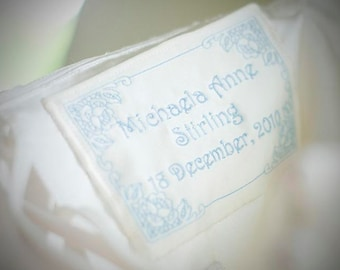 Wedding Dress Label Tag With Decorative Border