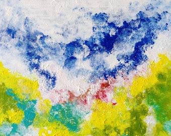 Freedom, Original Acrylic Painting on 10x10 Wood Panel