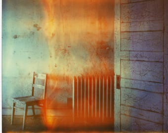 Polaroid Print - Chair in Flames